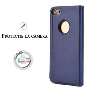 Husa iPhone 7 Plus / 8 Plus Clear View Flip Toc Carte Standing Cover Oglinda Mov (Purple)1