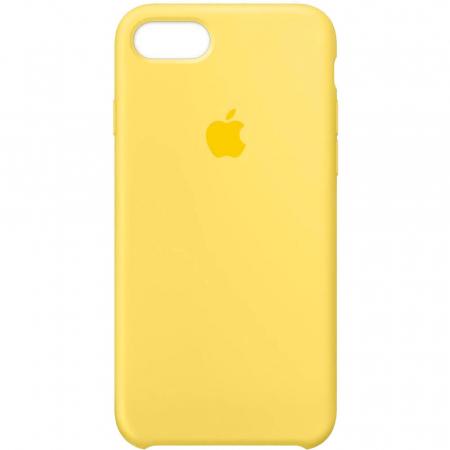 Husa iPhone 7 Plus Galben Carcasa Silicon Premium Slim Logo