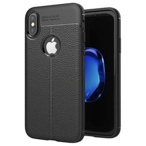 Husa iPhone X Silicon TPU Colorat Negru-Autofocus Black0