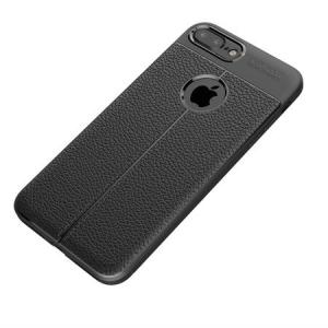 Husa iPhone 7 Plus Silicon TPU Colorat Negru-Autofocus Black1
