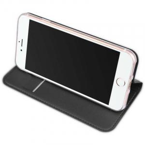 Husa Flip iPhone 8 Tip Carte Negru Skin DuxDucis2