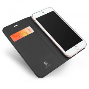 Husa Flip iPhone 8 Tip Carte Negru Skin DuxDucis1