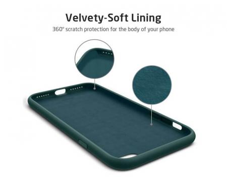 Husa iPhone 8 Verde Silicon Slim protectie Premium Carcasa1