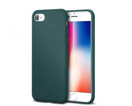 Husa iPhone 8 Verde Silicon Slim protectie Premium Carcasa0