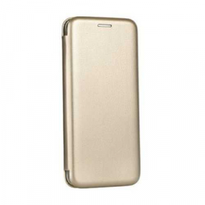 Husa iPhone X / iPhone XS Flip Cover Tip Carte Magnetica Auriu OEM0