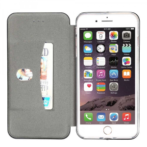 Husa iPhone X / iPhone XS Flip Cover Tip Carte Magnetica Negru OEM1