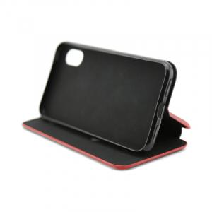 Husa iPhone X  / iPhone XS Rosu Tip Carte Flip Cover din Piele Ecologica Portofel cu Inchidere Magnetica2