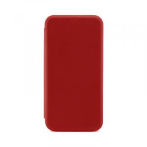 Husa iPhone X  / iPhone XS Rosu Tip Carte Flip Cover din Piele Ecologica Portofel cu Inchidere Magnetica0