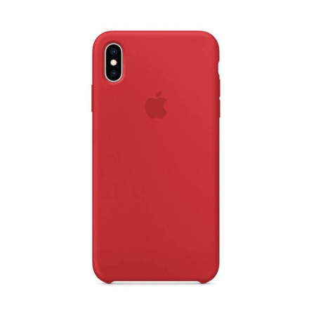 Husa iPhone X Rosu Carcasa Silicon Premium Slim Logo0