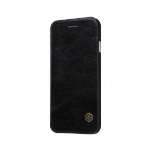 Husa Flip iPhone X / XS Negru Tip Carte Magnetica Nillkin Qin4