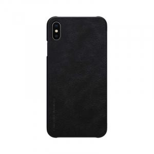 Husa Flip iPhone X / XS Negru Tip Carte Magnetica Nillkin Qin1