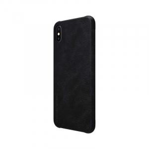 Husa Flip iPhone X / XS Negru Tip Carte Magnetica Nillkin Qin5