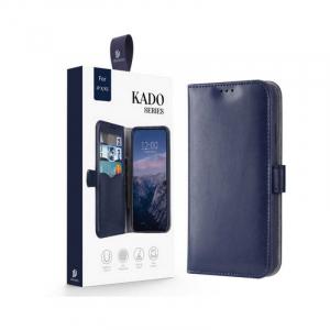 Husa iPhone X XS Toc Flip Tip Carte Portofel Albastru Piele Eco Premium DuxDucis Kado [7]
