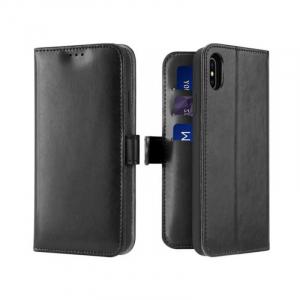 Husa iPhone X XS Toc Flip Tip Carte Portofel Negru Piele Eco Premium DuxDucis Kado [0]