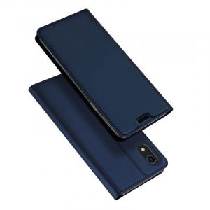 Husa iPhone XR 2018 Toc Flip Tip Carte Portofel Bleumarin Piele Eco Premium DuxDucis4