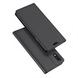 Husa Flip iPhone XR Tip Carte Negru Skin DuxDucis4