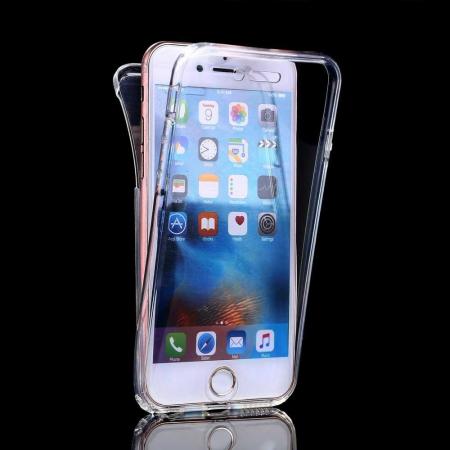 Husa iPhone XR 360 Grade Silicon Fata Spate Transparenta0