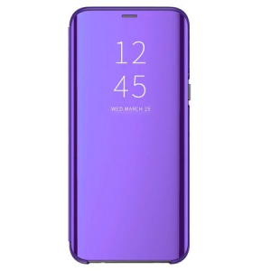 Husa iPhone Xs Max Clear View Flip Standing Cover (Oglinda) Mov (Purple)0