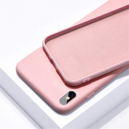 Husa iPhone XR Roz Silicon Slim protectie Premium Carcasa0