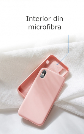 Husa iPhone XR Roz Silicon Slim protectie Premium Carcasa1