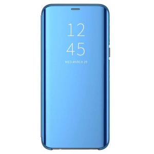 Husa iPhone Xs Max Clear View Flip Standing Cover (Oglinda) Albastru (Blue)0