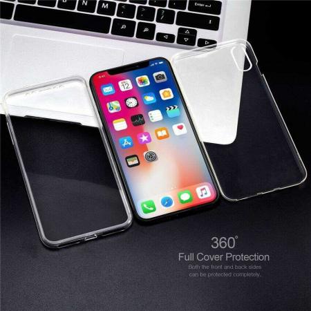 Husa iPhone Xs Max Full Cover 360 Grade Transparenta [1]