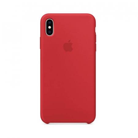 Husa iPhone XS Rosu Carcasa Silicon Premium Slim Logo0