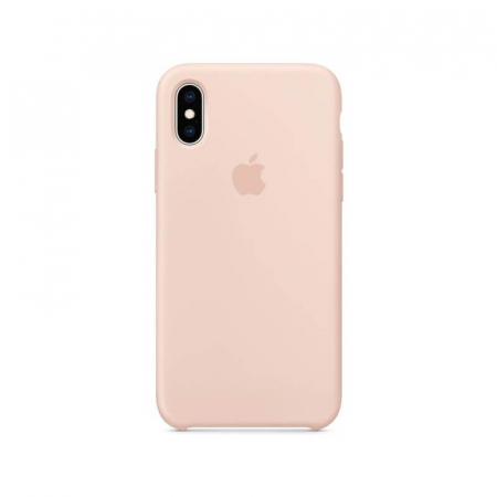 Husa iPhone XS Roz Carcasa Silicon Premium Slim Logo