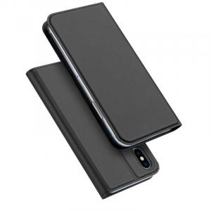 Husa iPhone XS Toc Flip Tip Carte Portofel Negru Piele Eco Premium DuxDucis [4]
