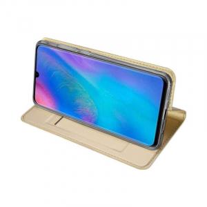 Husa Flip Portofel Huawei P30 Lite Tip Carte Auriu Skin DuxDucis2