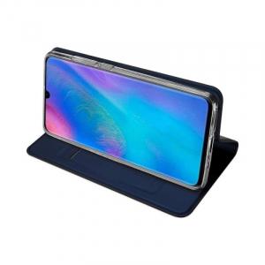 Husa Portofel Huawei P30 Lite 2019 Piele Eco Premium  DuxDucis - Bleumarin Dark Blue2