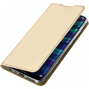 Husa Portofel Huawei Y7 2019 Piele Eco Premium  DuxDucis - Auriu Gold2
