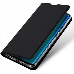 Husa Flip Portofel Huawei Y7 2019 Tip Carte Negru Skin DuxDucis2