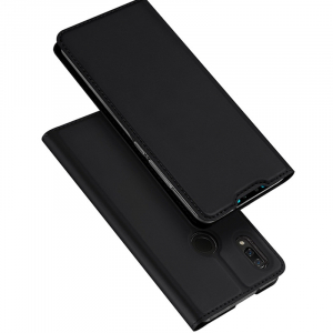 Husa Flip Portofel Huawei Y7 2019 Tip Carte Negru Skin DuxDucis1