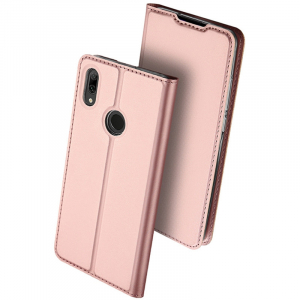 Husa Flip Portofel Huawei Y7 2019 Tip Carte Roz Skin DuxDucis0