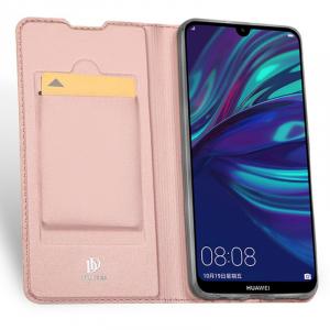 Husa Flip Portofel Huawei Y7 2019 Tip Carte Roz Skin DuxDucis4