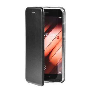 Husa iPhone 6 / iPhone 6S Tip Carte Flip Cover din Piele Ecologica Neagra Portofel cu Inchidere Magnetica (Black)