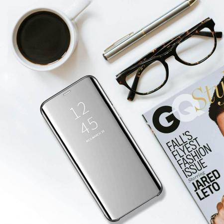 Husa Samsung A20e Clear View Argintiu [2]