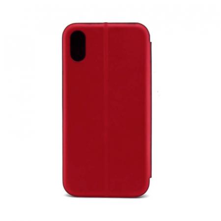 Husa Samsung Galaxy A10 2019 Tip Carte Flip Cover din Piele Ecologica Rosu Portofel cu Inchidere Magnetica [2]