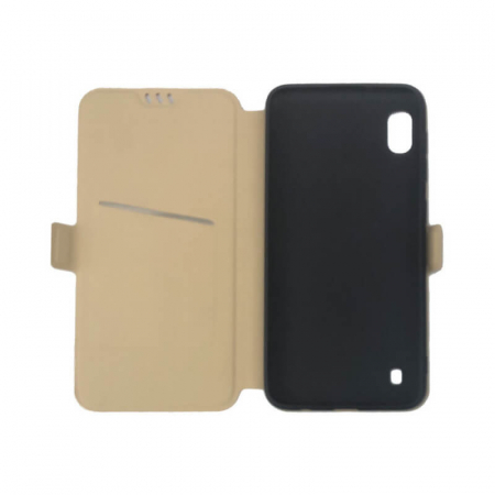 Husa Samsung Galaxy A10 Auriu Flip Cover Atlas Smart [1]