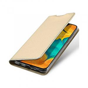 Husa Samsung Galaxy A20 2019 Toc Flip Portofel Auriu Gold Piele Eco DuxDucis [3]