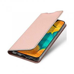Husa Samsung Galaxy A20 2019 Toc Flip Portofel Roz Piele Eco DuxDucis [3]