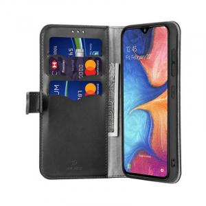 Husa Samsung Galaxy A20 E 2019 Toc Flip Tip Carte Portofel Negru Piele Eco Premium DuxDucis Kado [1]