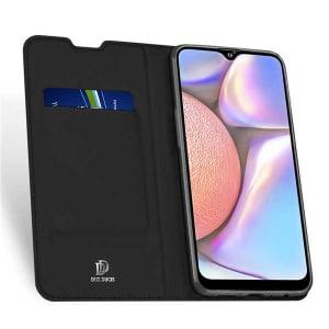 Husa Samsung Galaxy A20E 2019 Negru Piele Eco Toc Tip Carte Portofel Premium DuxDucis [2]