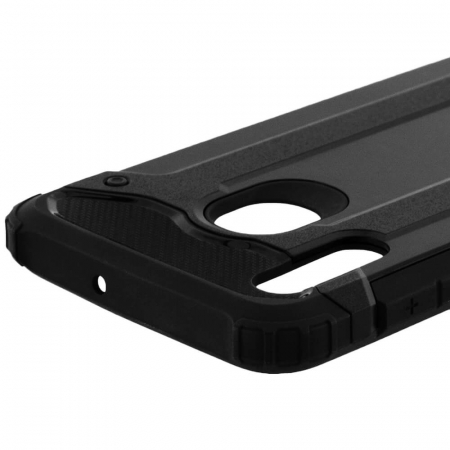 Husa Samsung Galaxy A20e Silicon Antisoc Negru Hybrid Armor [4]