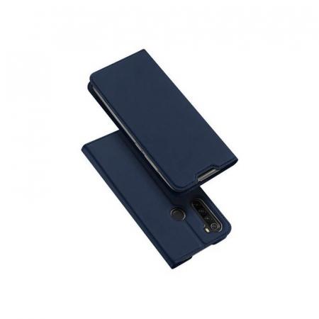 Husa Flip Samsung Galaxy A21 Tip Carte Bleumarin Skin DuxDucis0