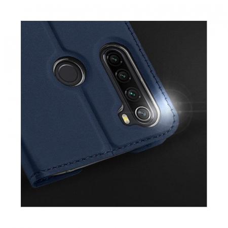 Husa Flip Samsung Galaxy A21 Tip Carte Bleumarin Skin DuxDucis3