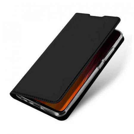 Husa Samsung Galaxy A21 2020 Toc Flip Tip Carte Portofel Negru Piele Eco Premium DuxDucis3