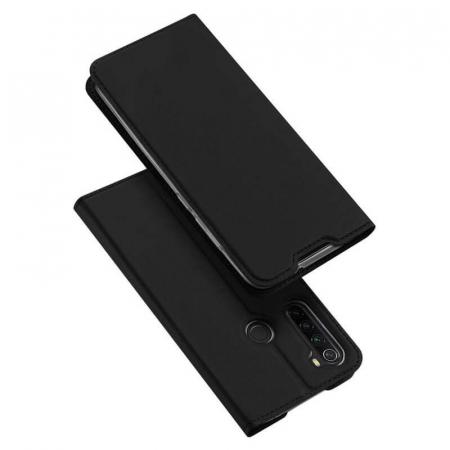 Husa Samsung Galaxy A21 2020 Toc Flip Tip Carte Portofel Negru Piele Eco Premium DuxDucis4