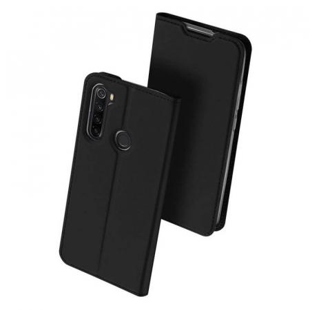 Husa Samsung Galaxy A21 2020 Toc Flip Tip Carte Portofel Negru Piele Eco Premium DuxDucis0